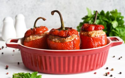 Chushka Biurek – Bulgarian Stuffed Peppers